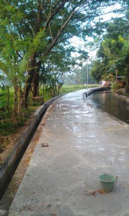 Program peningkatan infrastructur Jalan dusun  Grujugan rt 6 Dan 7