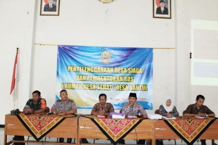 Penyelenggaraan Desa Siaga dan Pembentukan RDS Desa Bantul