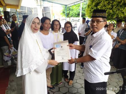 Penyerahan akta kematian Warga Bejen Rt. 001 Bantul